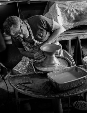 The Potter at His Wheel